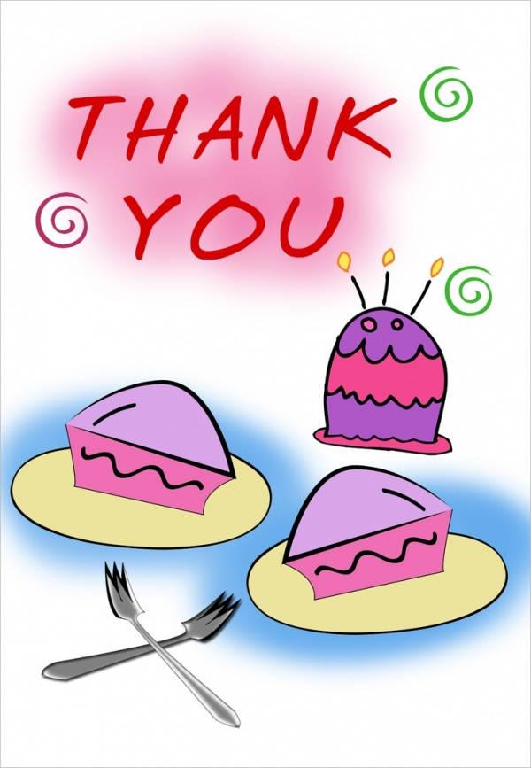 Free Printable Birthday Thank You Card
