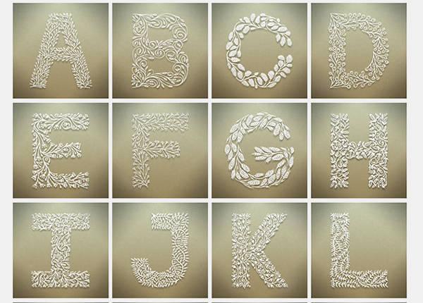 Free Printable Botanical Alphabet Letters