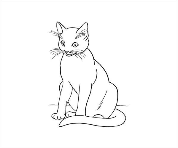 Free Printable Cat Coloring Page