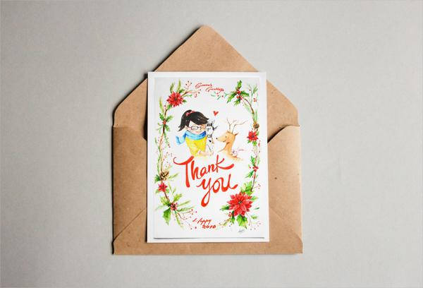 Free Printable Greeting Thank You Card