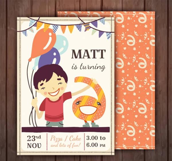 Free Printable Kids Birthday Party Invitation
