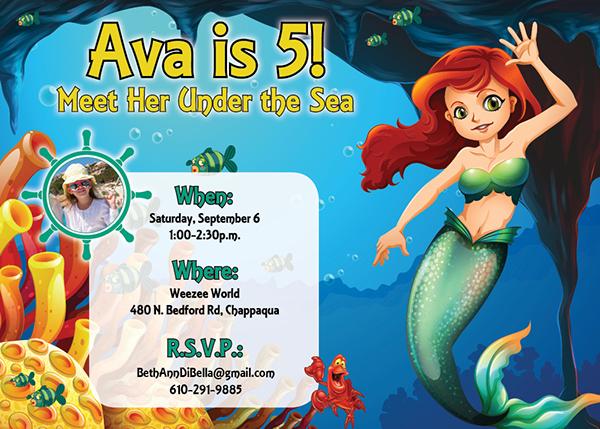 Free Printable Mermaid Invitation