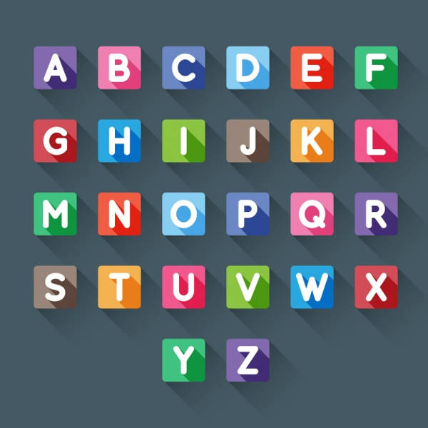 Free Printable Square Alphabet Letters