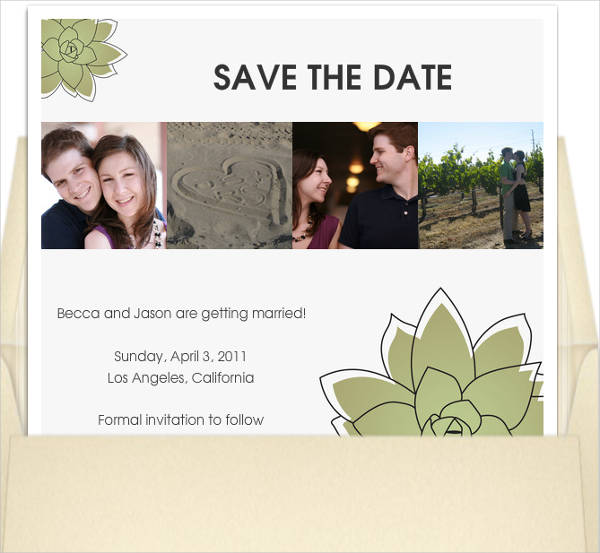 Free Save The Date Email Invitation