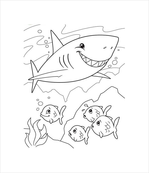 free shark coloring page