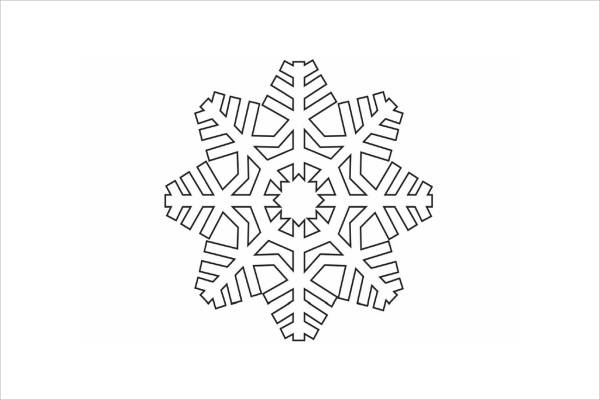 Free Snowflake Coloring Page