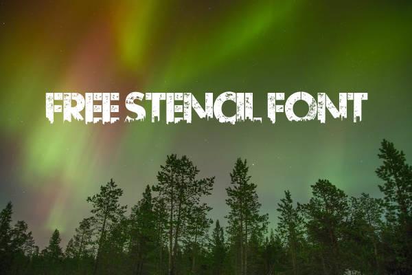 Free Stencil Font