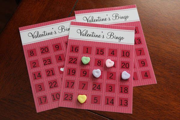 Free Valentine Bingo Printable