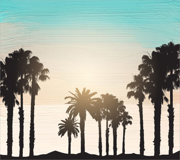 Free Vector Palm Tree Silhouette