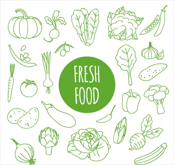 Fresh Food Drawing