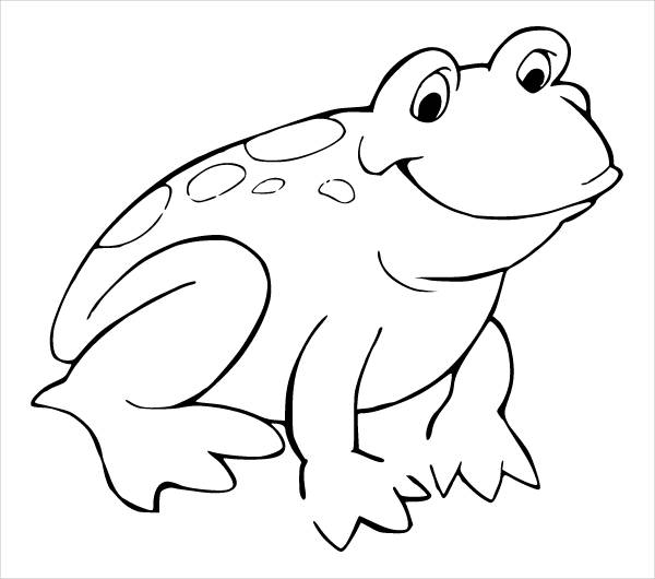 Frog Black and White Clipart
