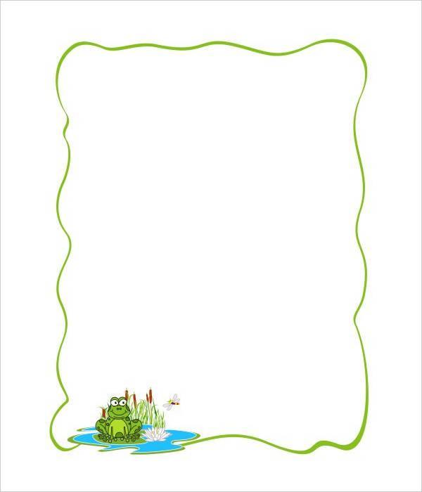 Frog Border Clipart