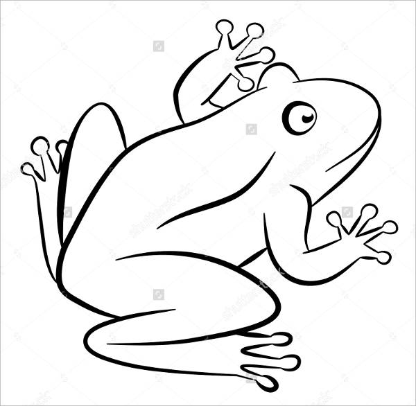 Frog Outine Drawing
