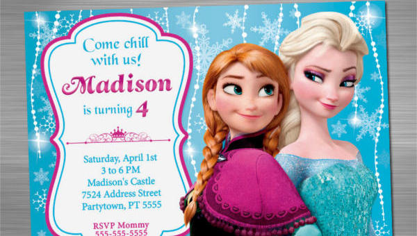9 frozen birthday invitations 9 unique frozen birthday invitations filmwisefo Images