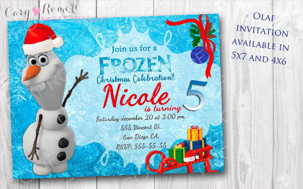 Frozen Christmas Invitation