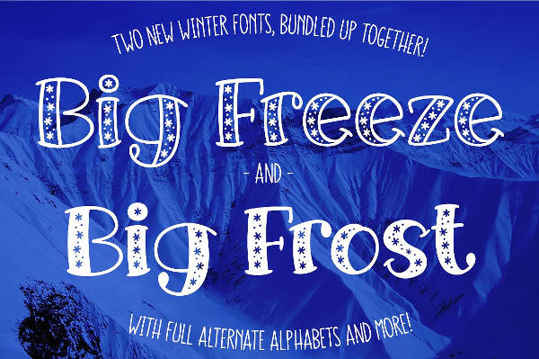 Frozen Freeze Font