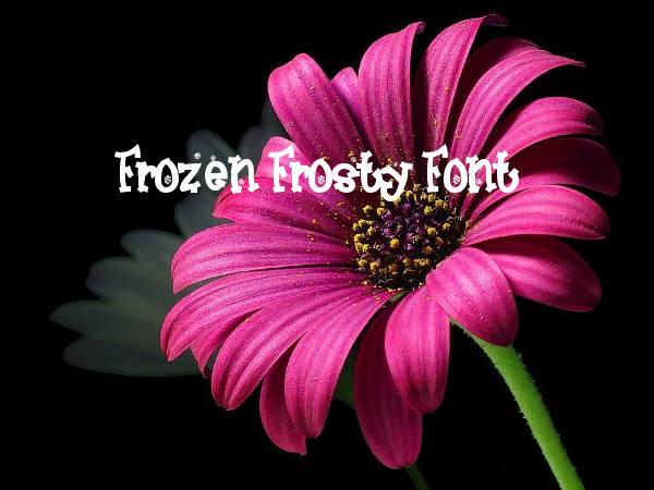 Frozen Frosty Font