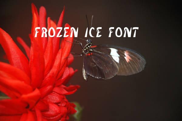 Frozen Ice Font