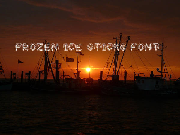 Frozen Ice Sticks Font
