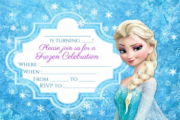 Frozen Party Invitation