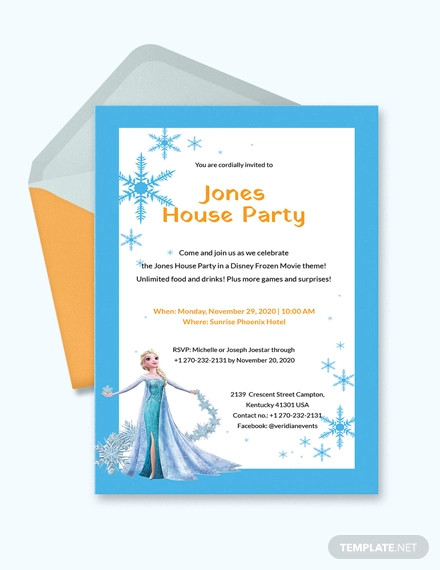 frozen party invitation1
