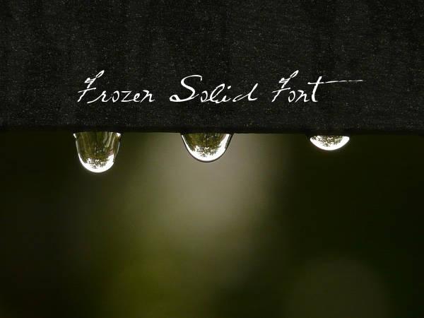 Frozen Solid Font