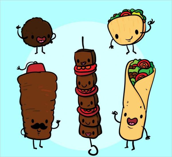 Funny Arabic Food Drawing