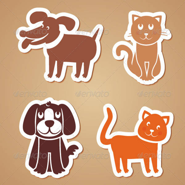 Funny Dog and Cat Stickers