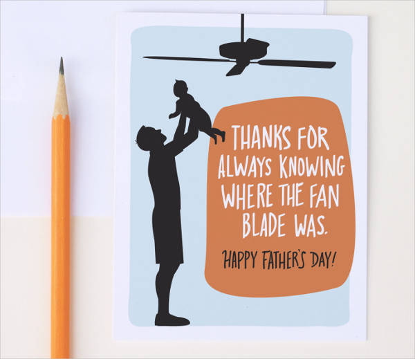 Funny Happy Fathers Day Card