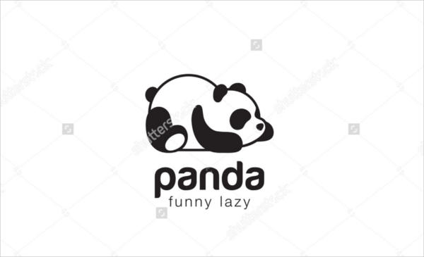 Funny Panda Logo