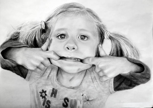 funny pencil drawing