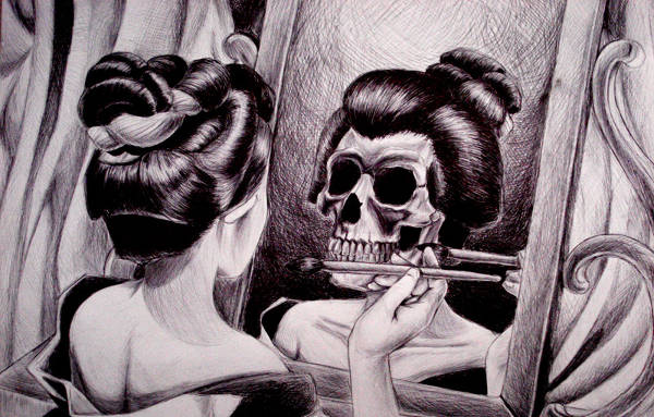 Funny Skull Drawing