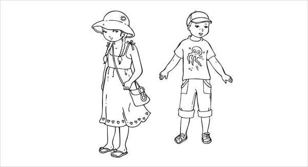 11 summer coloring pages jpg psd ai illustrator download for Coloring pages of summer clothes