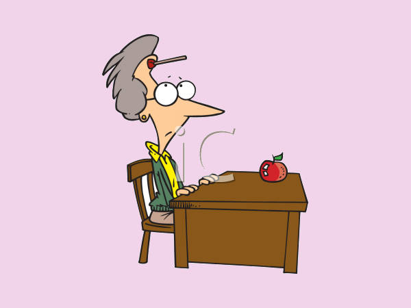 Funny Teacher Clipart