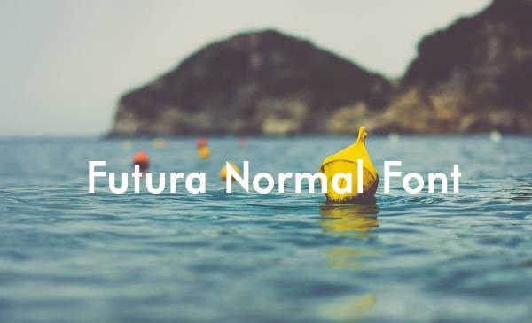 Futura Normal Font