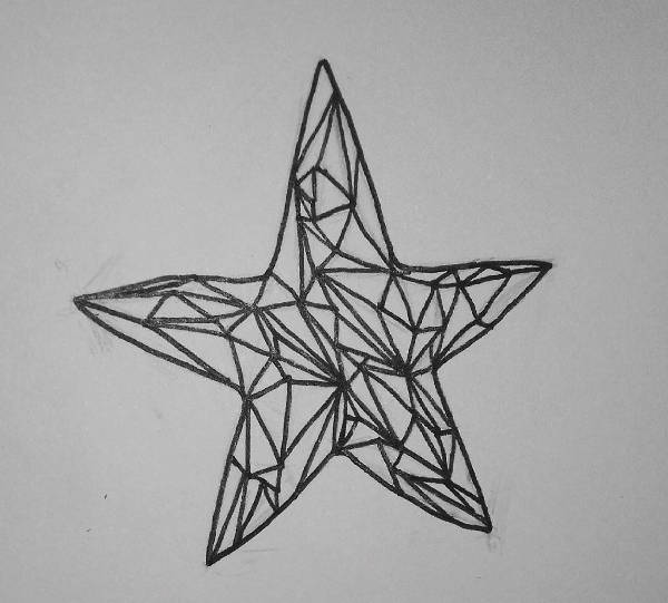 Geomertic Star Drawing
