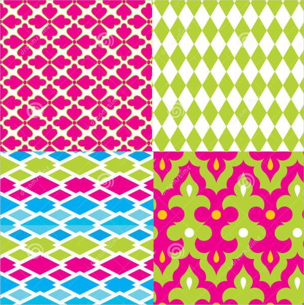 Geometric Damask Pattern