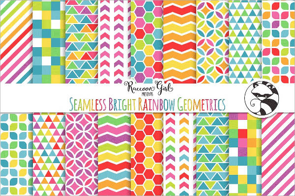 Geometric Rainbow Seamless Pattern