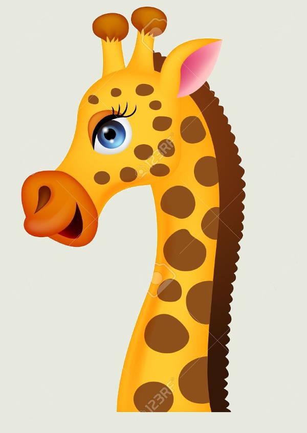 giraffe head clipart