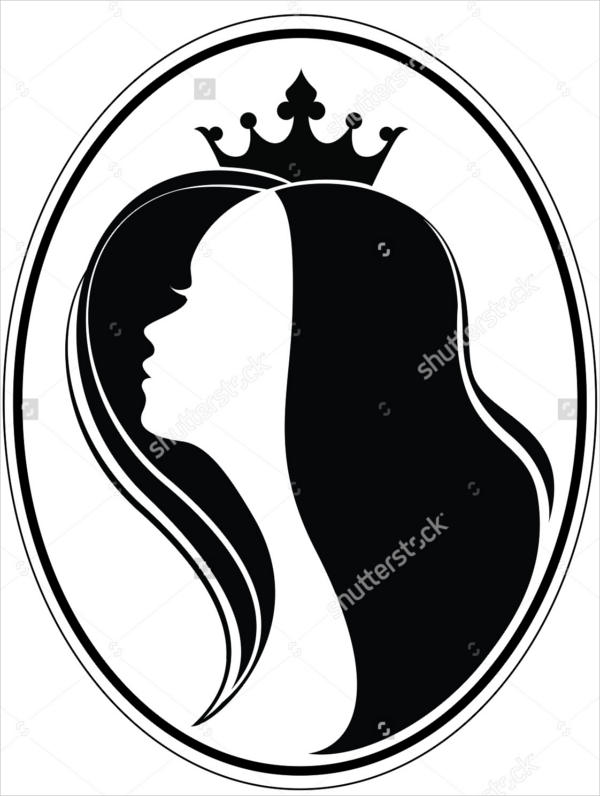 Girl with Crown Silhouette