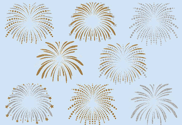 Glitter Fireworks Clipart