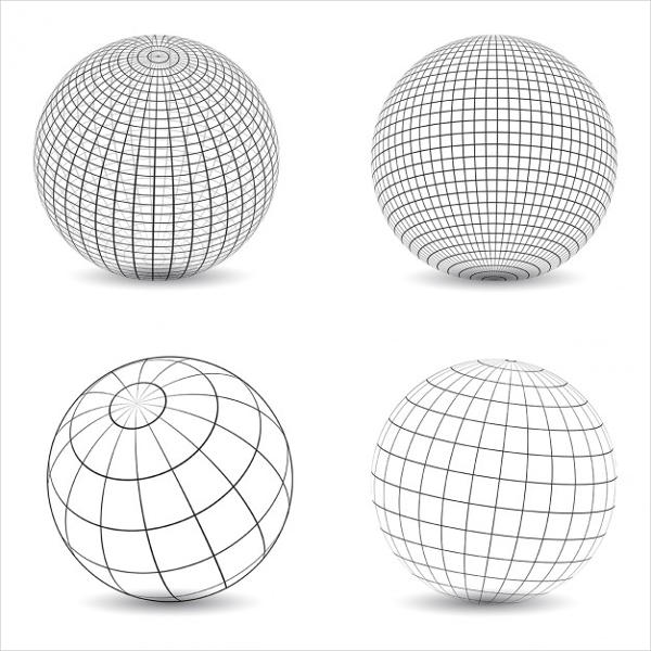 Globe Wireframe Vector