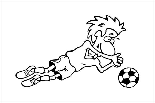 Goalkeeper Coloring Page for Boys