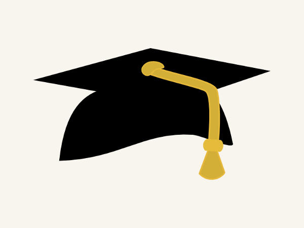 Gold Graduation Cap Clipart