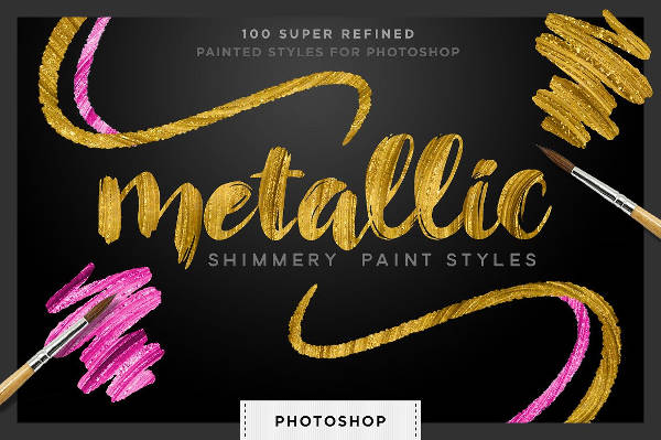 Gold Style Photoshop Pattern