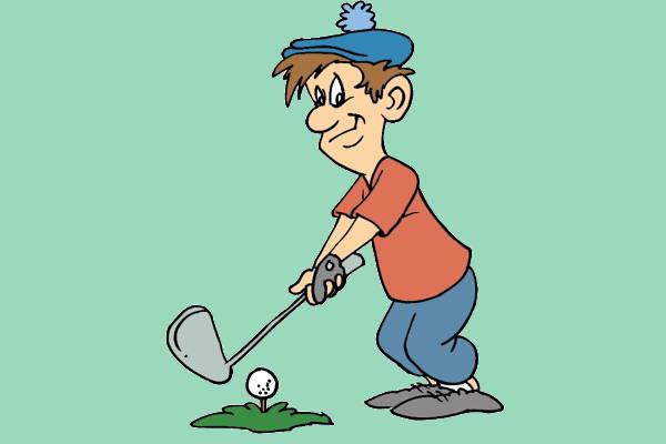 Golf Cartoon Clip Art