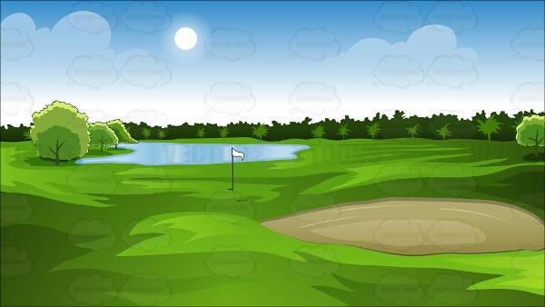 Golf Course Clip Art