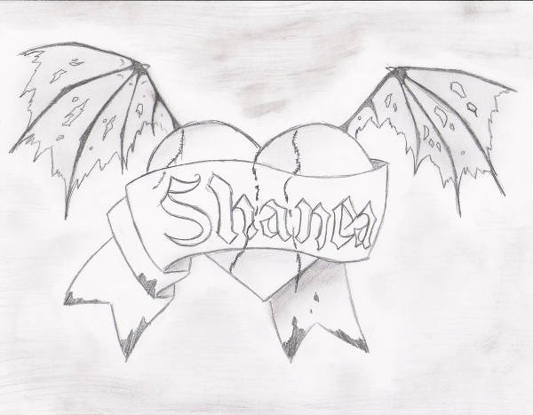 Gothic Heart Drawing