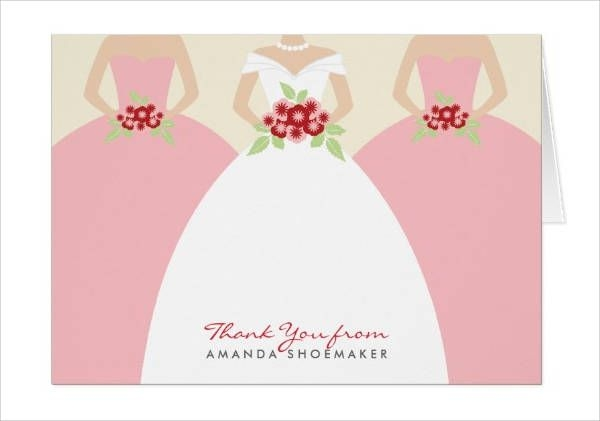 Gown Bridal Shower Thank You Cards