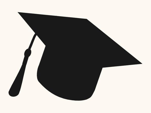 Graduation Cap Silhouette Clip Art
